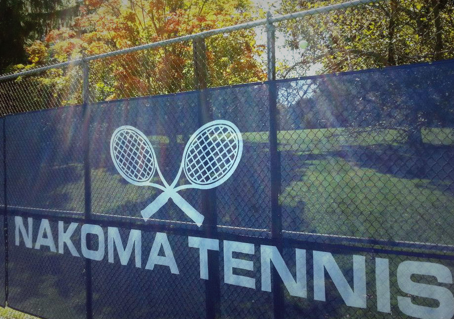 Tennis Windscreen Logos and Lettering