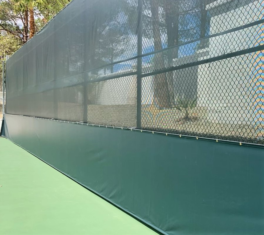 New Project: Andre Agassi home tennis court-windscreen and stadium vinyl
